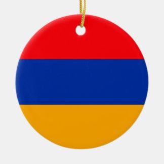 Armenia Flag Round Ceramic Decoration