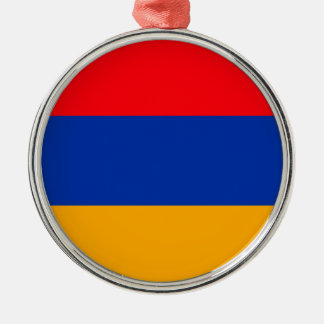 Armenia Flag Silver-Colored Round Decoration
