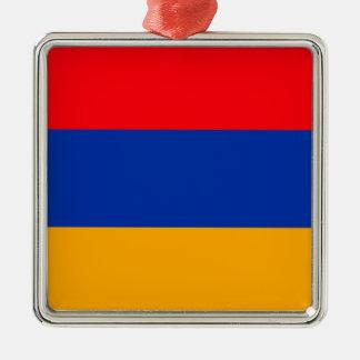 Armenia Flag Silver-Colored Square Decoration