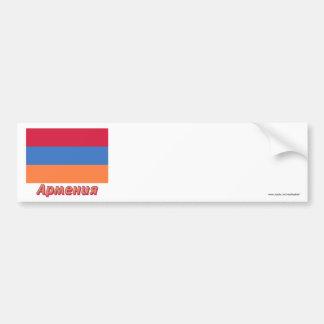Armenia Flag with name in Russian Bumper Sticker
