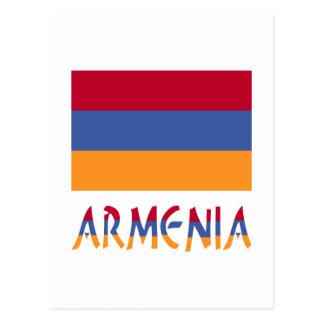 Armenia Flag & Word Postcard