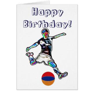 Armenia Football soccer birthday card
