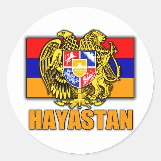 Armenia Hayastan Coat of Arms Classic Round Sticker