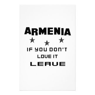 Armenia If you don't love it, Leave Customized Stationery