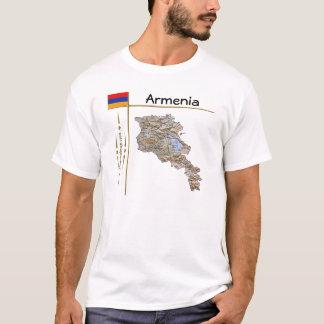 Armenia Map + Flag + Title T-Shirt