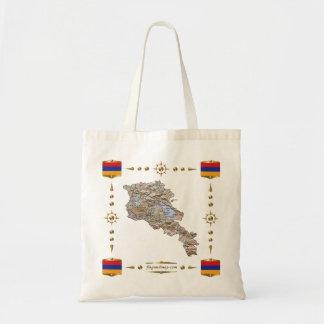Armenia Map + Flags Bag