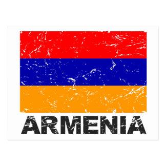 Armenia Vintage Flag Postcard