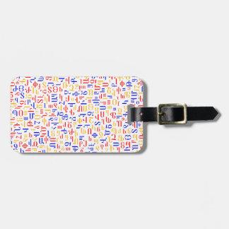 Armenian alphabet luggage tag
