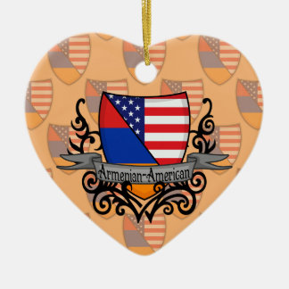 Armenian-American Shield Flag Christmas Ornament