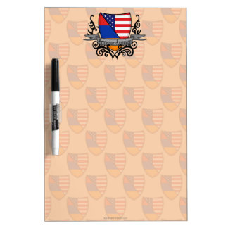Armenian-American Shield Flag Dry Erase Board