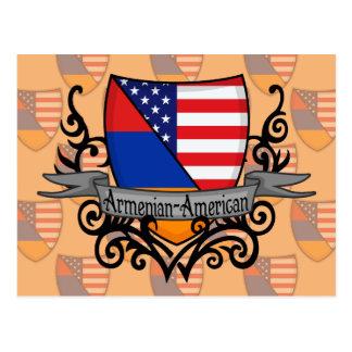 Armenian-American Shield Flag Postcard