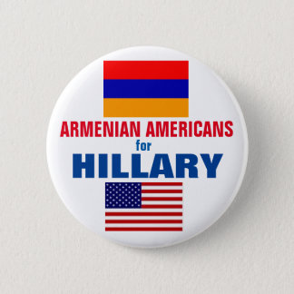 Armenian Americans for Hillary 2016 6 Cm Round Badge