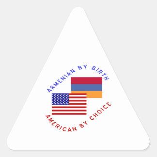 Armenian Birth American Choice Triangle Sticker