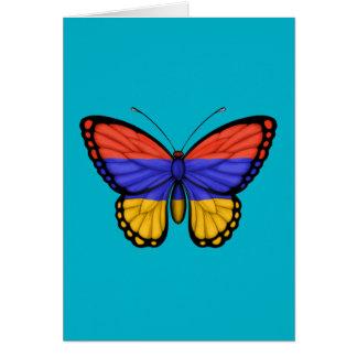 Armenian Butterfly Flag Card