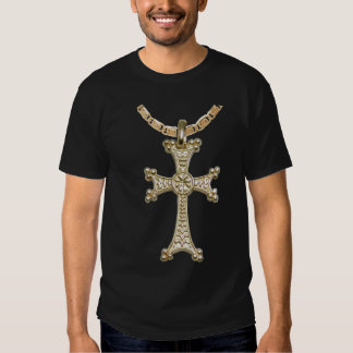Armenian Cross Front T Shirts