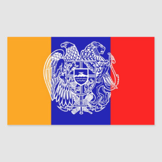 Armenian Flag & Coat of Arms Rectangular Sticker