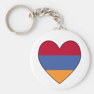Armenian Flag Heart Valentine Key Ring