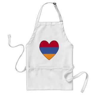 Armenian Flag Heart Valentine Standard Apron