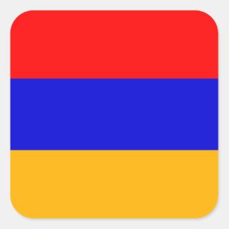 Armenian Flag Square Sticker
