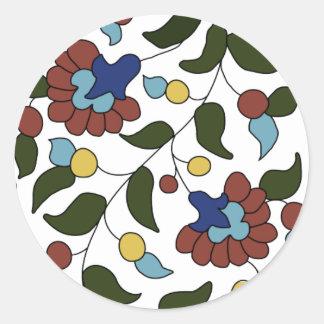 Armenian Floral Pattern Classic Round Sticker
