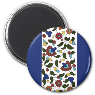 Armenian Floral Pattern 6 Cm Round Magnet