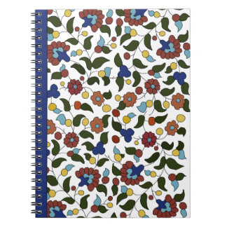 Armenian Floral Print - Navy Blue & White Notebooks