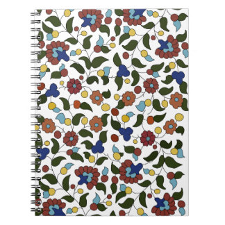 Armenian Floral Print - White Notebooks