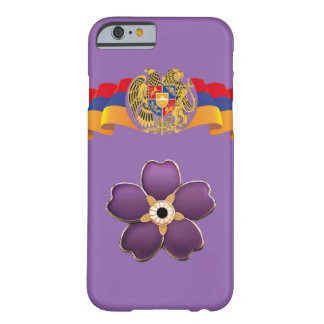 Armenian forget me not flower and the flag case barely there iPhone 6 case