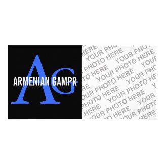 Armenian Gampr Breed Monogram Personalised Photo Card