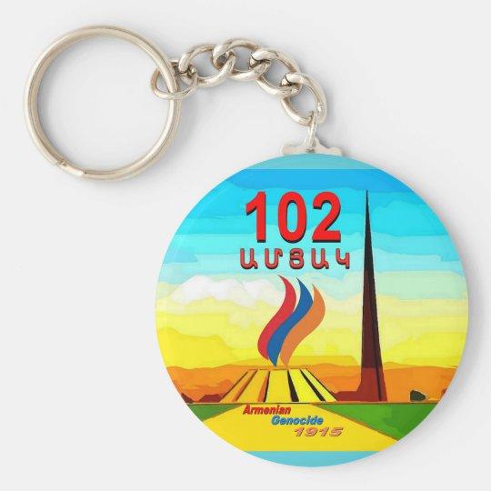 Armenian Genocide 102nd memorial Round keychain
