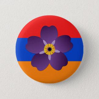 Armenian Genocide Centennial Emblem & Flag 6 Cm Round Badge