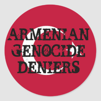 Armenian Genocide Deniers Sticker
