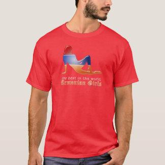 Armenian Girl Silhouette Flag T-Shirt