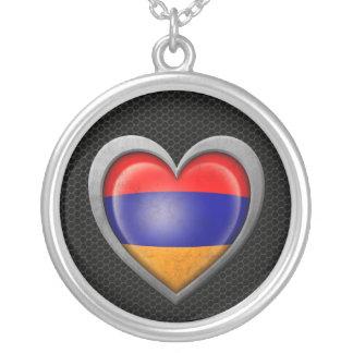 Armenian Heart Flag Steel Mesh Effect Pendants