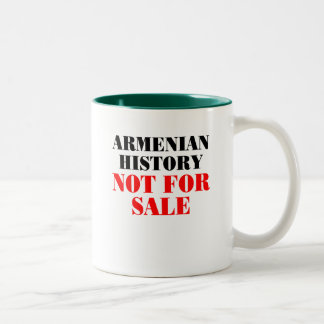 Armenian history: Not for sale Two-Tone Coffee Mug