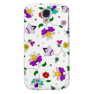 Armenian-inspired Colorful Swirling Flower Pattern Galaxy S4 Case