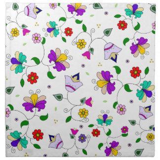 Armenian-inspired Floral Pattern Napkin