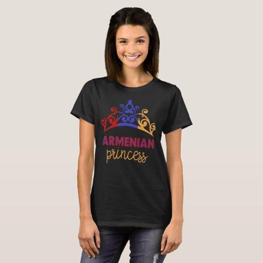 Armenian Princess Tiara National Flag T-Shirt