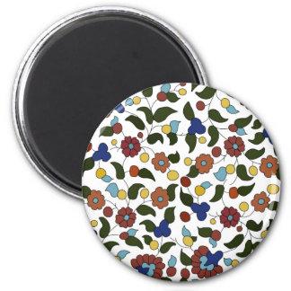 Armenian small print floral pattern fridge magnet