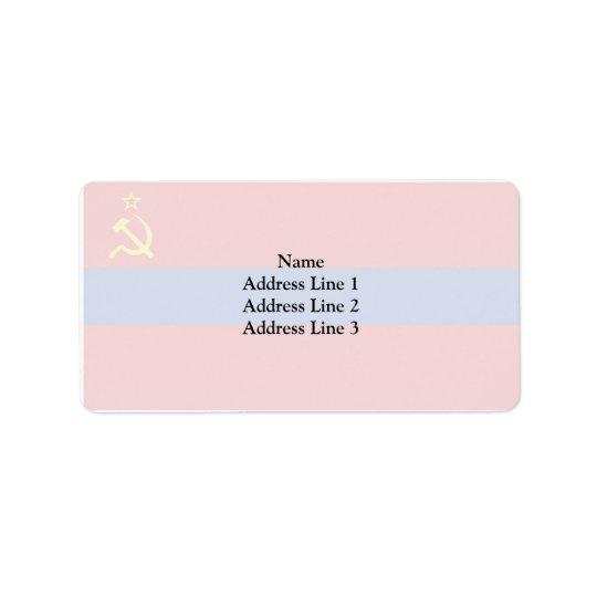 Armenian Ssr, Armenia flag Address Label