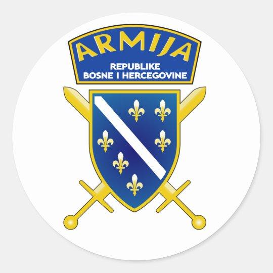 Armija Slicica Classic Round Sticker