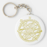 Armillary sphere key chain