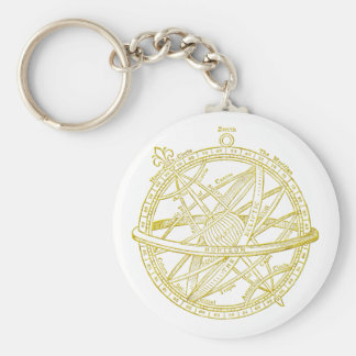 Armillary sphere key ring