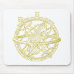 Armillary sphere mouse mats