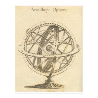 Armillary Sphere Original Sketch Postcard