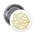 Armillary sphere pinback buttons