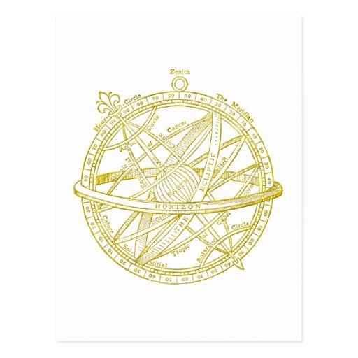 Armillary sphere post card