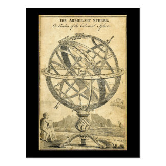 armillary sphere vintage steampunk illustration postcard
