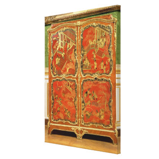 Armoire with four Chinoiserie red lacquer panels e Canvas Prints