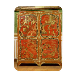 Armoire with four Chinoiserie red lacquer panels e Rectangle Magnets